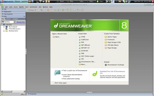 DreamWeaver in Ubuntu