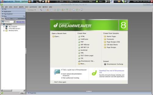 DreamWeaver in Ubuntu